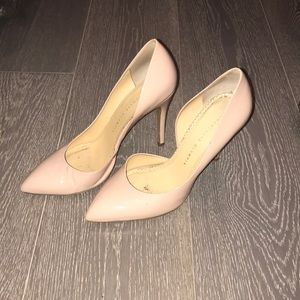 Charlotte Olympia nude patent leather heels